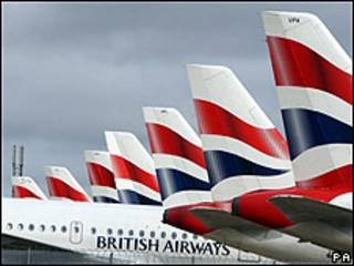 Aviones de British Airways en Heathrow