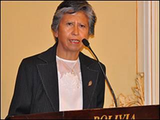 Nila Heredia, nueva ministra de Saud de Bolivia. Foto cortesía Agencia Boliviana de Información.