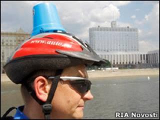 Участник митинга автомобилистов в Москве
