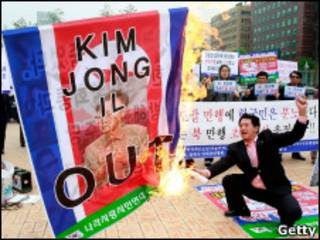Protesto de sul-coreano