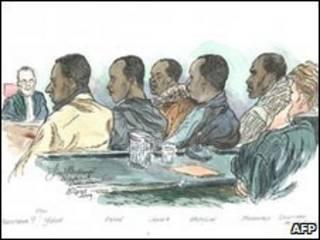 مظنونان در دادگاه