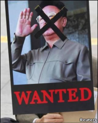 протест против КНДР в Сеуле