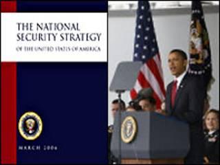 Обложка национальной стратегии и Барак Обама
