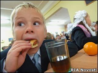 Первоклассник в одной из московских школ