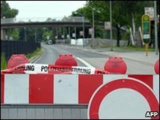Tempat ledakan di Goettingen
