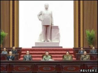 Sesión del parlamento de Corea del Norte.