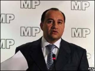 O ex-procurador-geral da Guatemala, Conrado Reyes, durante coletiva de imprensa na última quinta-feira (AFP)