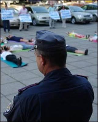 В Одесі протести були оголошені незаконними, хоча молодь усе одно протестувала