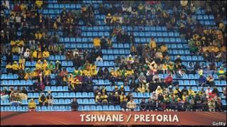 Asientos vacíos en Pretoria