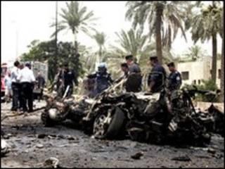 موقع تفجير عبوة ناسفة في العراق - ارشيف