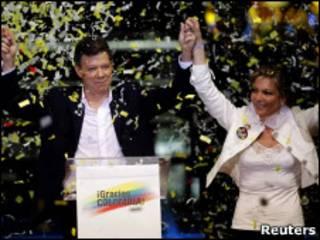 Новый президент Колумбии Хуан Мануэль Сантос