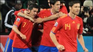 Spain ta barar da kwallaye da dama a wasan