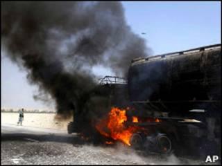 Нападение на военную колонну в Афганистане