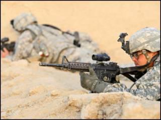 امريکايي پوځي په افغانستان کې