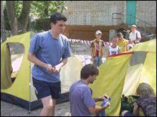 Палаточный городок участников голодовки в Ульяновске (фото автора статьи)