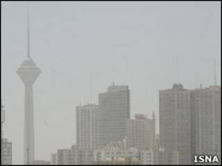 افزایش گرد و غبار در هوای تهران