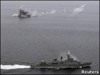 Южнокорейский военный корабль