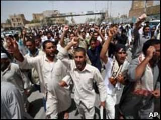Protestas por los apagones en Kufa, rak