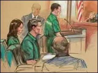 Скетч из зала суда в Вирджинии