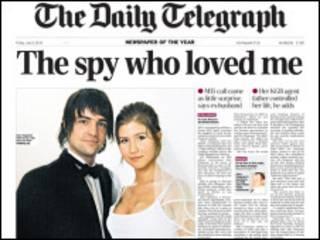 Reprodução da capa do Daily Telegraph de 2 de julho de 2010