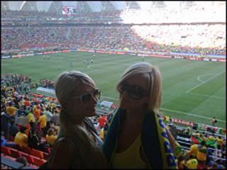 Paris Hilton en el Mundial de Sudáfrica
