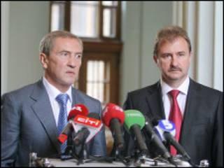 Леонід Черновецький і Олександр Попов