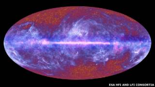 تصویر کهکشان توسط تلسکوپ پلانک