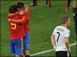 Spain ta samu galaba akan Jamus