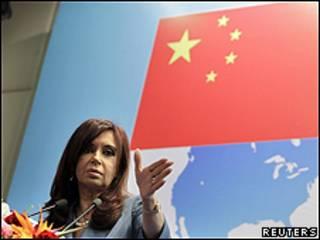 Cristina Fernández en Pekín
