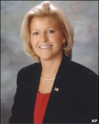 A prefeita Jayne Peters, em foto oficial da prefeitura de Coppell