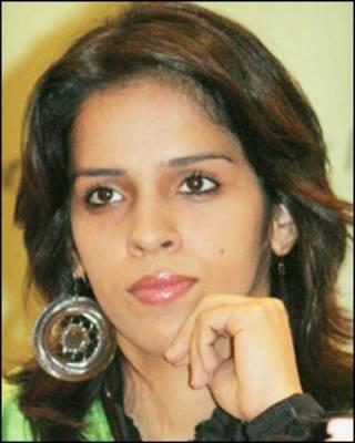 भारतीय बैडमिंटन खिलाड़ी सायना नेहवाल