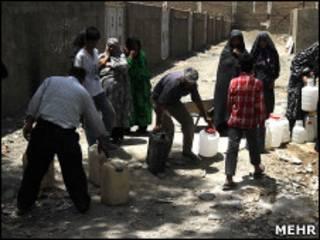 کمبود آب شرب در تهران