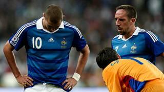 Ribery (phải) và Benzema