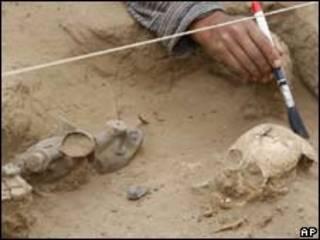 Sitio arqueológico en Lambayeque, Perú.