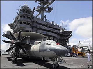 Buque militar George Washington, de EE.UU. en el puerto de Busan, en Corea del Sur