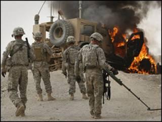 अफ़गानिस्तान में अमरीकी सेना (फ़ाइल तस्वीर)
