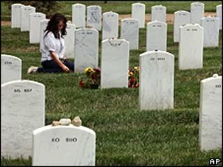 Cemitério de Arlington em Washington (foto: AP)