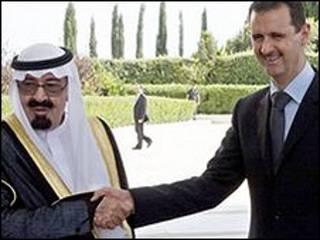 شاہ عبداللہ  اور صدر بشرالاسد