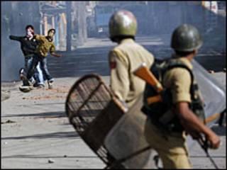 کشمیر میں احتجاجی