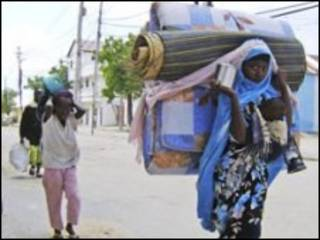 Somali displaced refugees in mogadishu