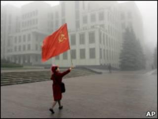 Коммунистка на улицах Минска