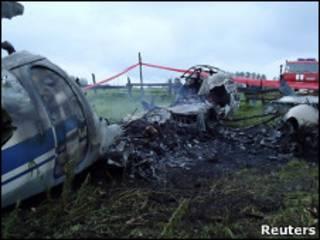 Место аварии Ан-24