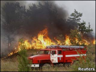 Пожар около Нововоронежа