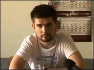 Кадр из видеозаписи, сделанной в изоляторе