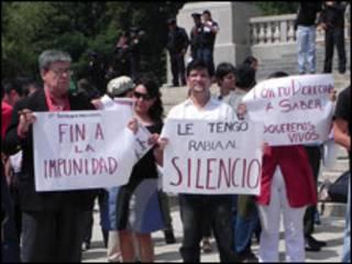 Protesta de periodistas en México