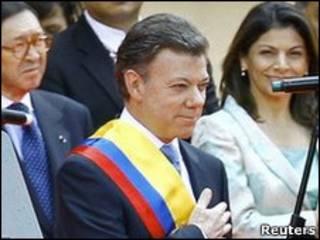 Инаугурация президента Колумбии Хуана Мануэля Сантоса
