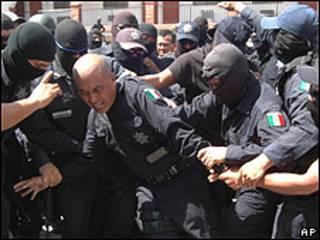 Imagen de la rebelión policial.