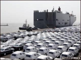 Carros alemães para exportação
