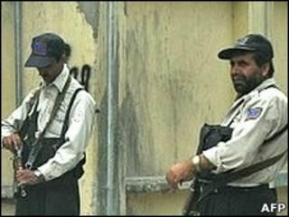 Seguranças de empresa privada fazem guarda no Afeganistão