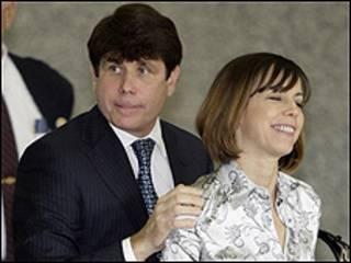 راد بلاگویویچ و همسرش